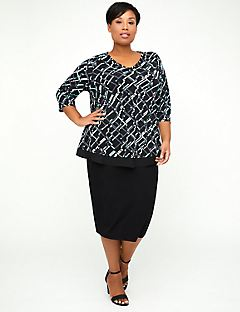 AnyWear Midnight Geo Tunic