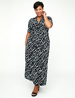 AnyWear Midnight Geo Maxi Dress