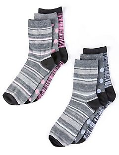 Crew 6-Pack Mixed Print Socks