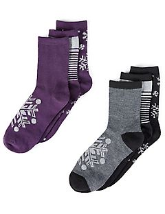 6-Pack Glitter Splash Crew Socks