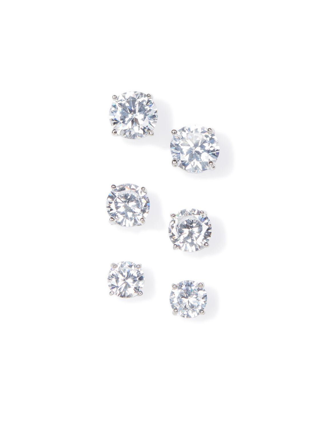 3-Pack Dazzling Post Earrings