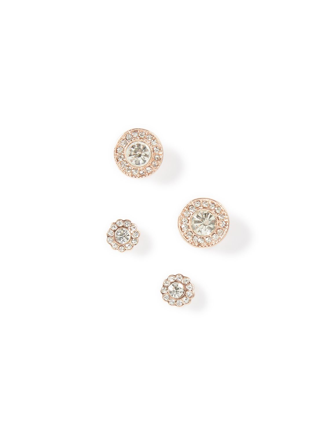 2-Pack Rhinestone Post Earrings