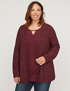 Autumn Sunset Marled Cardigan