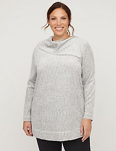 Active Velour Split-Neck Tunic