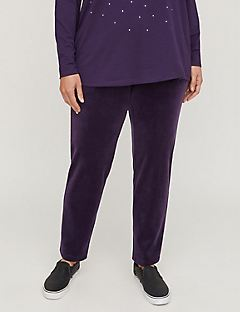 Active Velour Straight Leg Pant