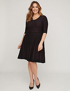 Comfy Fit & Flare Sweater Dress