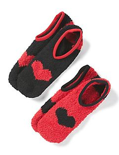 Hearts Low-Cut Slipper Socks 2-Pack