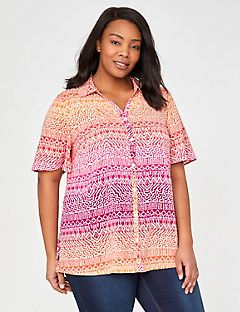 Sunset Horizon Ombre Buttonfront Blouse