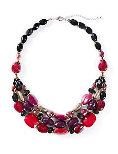 Ruby Luster Statement Necklace
