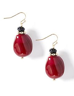 Ruby Luster Drop Earrings