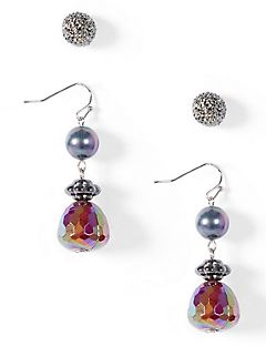 2- Pack Full Moon Earrings