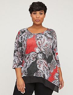 Sparkling Paisley Top with Strappy Back