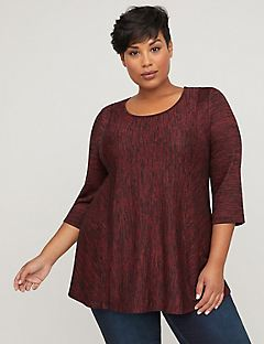 Melange Tunic Top