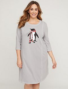 Chill Out Glitter Penguin Sleepshirt