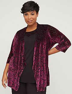 AnyWear Velvety Cardigan