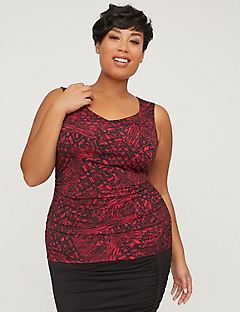 Curvy Collection Sweetheart Ruched Tank