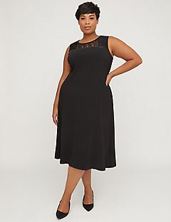 Black Label Fit & Flare Dress