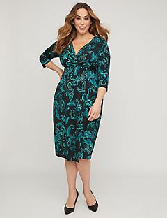 Romantic Garden Wrap Dress
