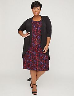 Banquet Chevron Jacket Dress