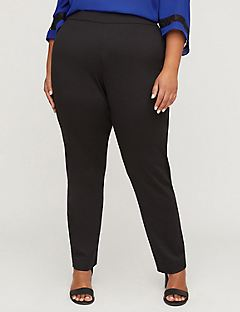 Black Label Ponte Pant with Lace
