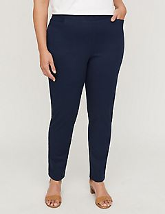 New Essential Flat Front Twill Pant