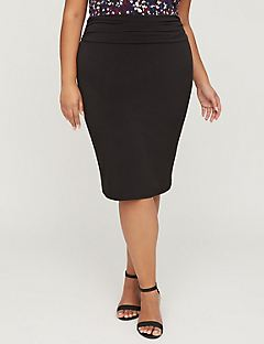 Curvy Collection Pencil Skirt