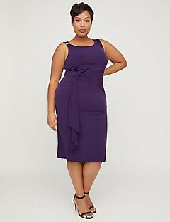Curvy Collection Knot Sheath Dress