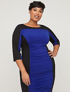 Curvy Collection Colorblock Top