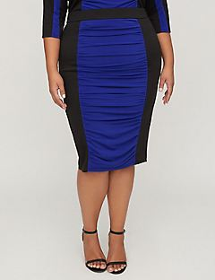 Curvy Collection Colorblock Skirt