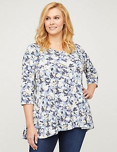 Harvest Floral Seamed Swing Top
