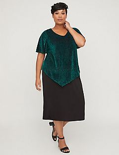 Burnout Velvet Duet Shift Dress