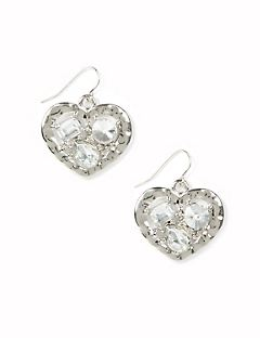 Gleaming Heart Drop Earrings