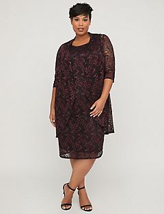 Plaza Floral Lace Jacket Dress