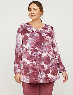 Active Tie-Dye Velour Crisscross Top