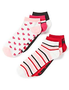 Low-Cut Socks 6-Pack - Hearts