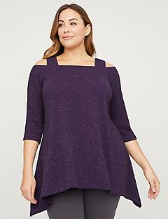 Berry Merry Cold-Shoulder Top