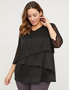 Elegant Evening Tiered Top
