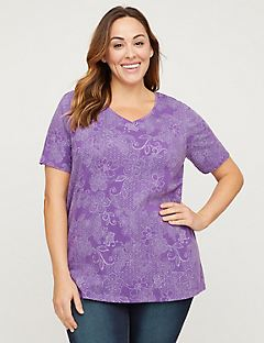 Flowering Lace Top - Short Sleeves