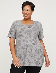 Blossoming Garden Top - Short Sleeves