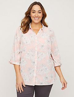 Camelia Signature Crepe Top