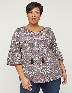 Soft Meadow Peasant Top