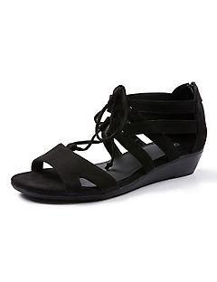 Good Soles Lace-Up Wedge Sandal