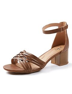 Good Soles Ankle-Strap Block Heel