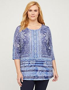 Polished Paisley Tunic Top