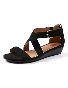 Good Soles Cross-Strap Wedge Sandal
