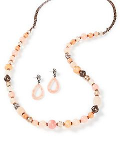 Soft Rose Beaded Necklace