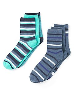 Striped Crew Socks 6-Pack