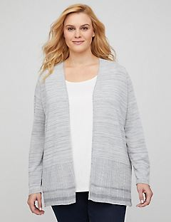 Lightweight Textured Cardigan
