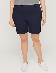 Essential Denim Flat Front Short