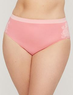Floral Imprint Seamless Hi-Cut Brief Panty